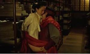 Секс с Сон Чжи Хё в библитеке